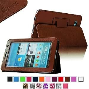 Fintie Slim Fit Folio Case Cover for Samsung Galaxy Tab 7.0 Plus / Samsung Galaxy Tab 2 7.0 Tablet - Brown