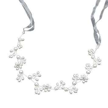 Beauty & Health New Fashion Ladies Silver Rhinestone Bridal Wedding Flower Pearls Headband Hair Clip Comb Hottest For Sale