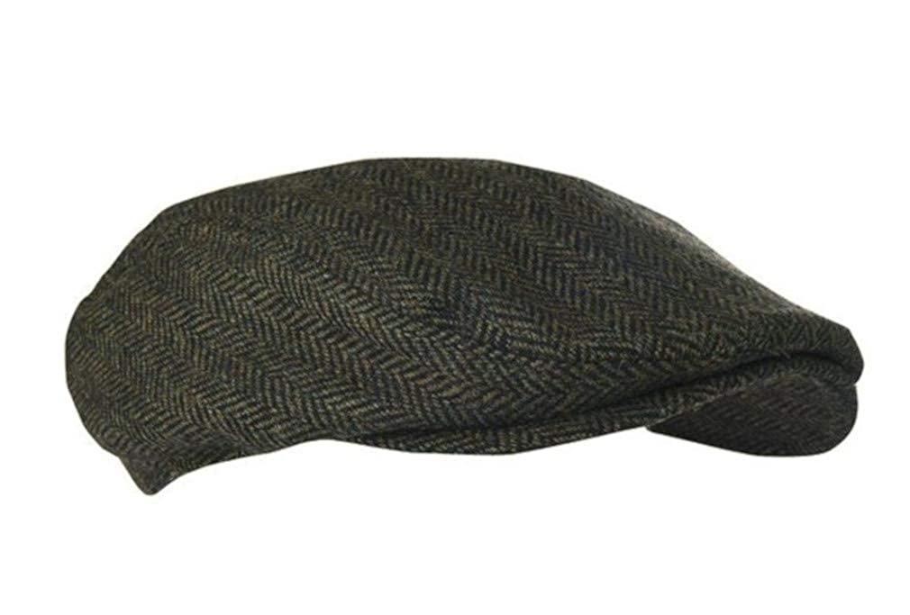 Extremities Parapet Khaki Tweed Flat Cap