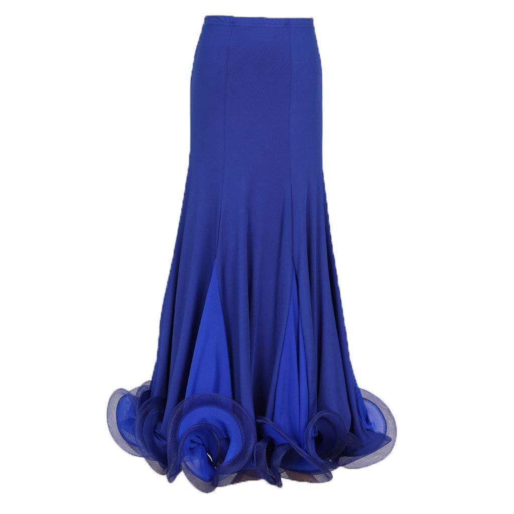 Royal bleu DRESSS La Jupe Moderne de Pratique de Danse de Curling d'os de Poisson, Jupe d'oscillation de Demi-Corps Femelle Adulte (Couleur   vert, Taille   XL) Small