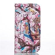 Nancen Coque pour HTC One M8 (5 pouces), Série Mignon Étui Housse en Cuir PU Bookstyle Flip Cover Wallet Portefeuille Coque de protection Intérieure Souple TPU Silicone Case [Chats famille]