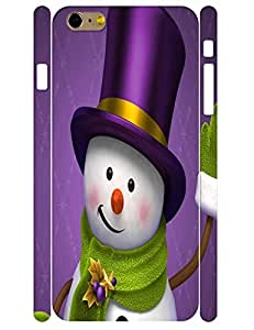 3D Print Artistic Snowman Pattern Eco TPU Phone Cover Case for Iphone 6 Plus 5.5 Inch