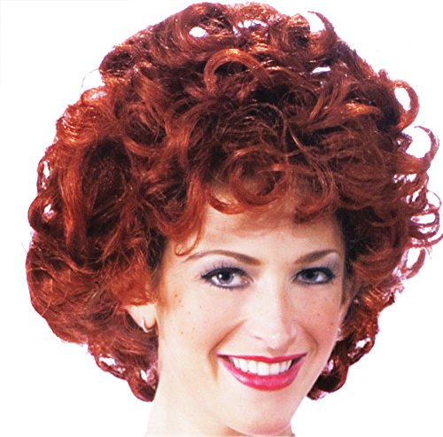 Orphan Halloween Costume (UHC Little Orphan Annie Adult Womens Red Curls Curly Halloween Costume Wig)
