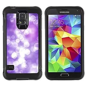 """Pulsar iFace Series Tpu silicona Carcasa Funda Case para Samsung Galaxy S5 V , White Lilac Purple Reflexión Focus brillante"""""""