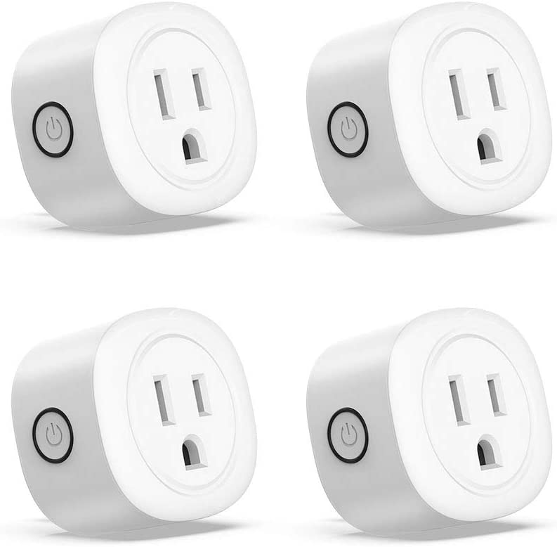 Smart Plug, JUANWE WiFi Smart Outlets Work with Alexa, Google Home Assistant, No Hub Required, Remote Control Your Home Appliance from Anywhere, with Timer Function(4 Pack)