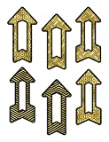 Sparkle and Shine Black and Gold Arrows Cut-outs
