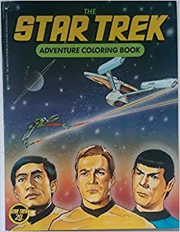 the star trek adventure coloring book ellen steiber 9780671632441 amazoncom books - Star Trek Coloring Book