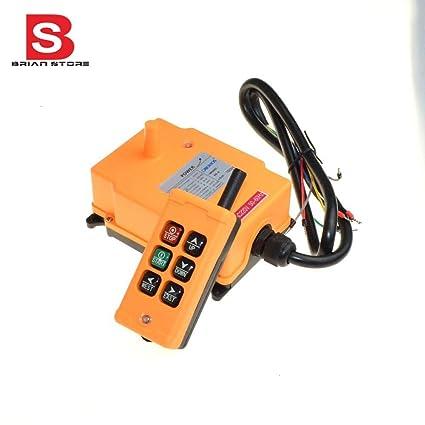 New 24V HS-10S Single Speed Hoist Crane Radio Remote Control System