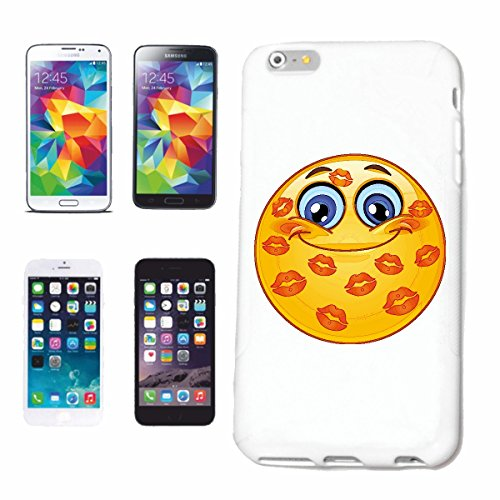 "cas de téléphone iPhone 7+ Plus ""HEUREUX SMILEY AVEC suçons ""SMILEYS SMILIES ANDROID IPHONE EMOTICONS IOS grin VISAGE EMOTICON APP"" Hard Case Cover Téléphone Covers Smart Cover pour Apple iPhone en bl"