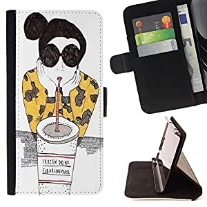 Dragon Case - FOR Samsung Galaxy S6 - Don't try so hard - Caja de la carpeta del caso en folio de cuero del tir¨®n de la cubierta protectora Shell