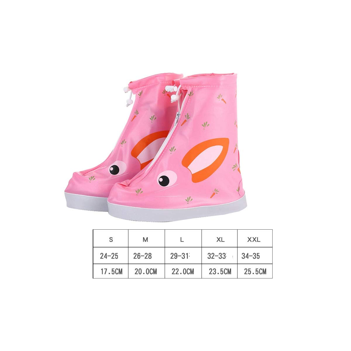 KAIYITONG Rain Boots, Waterproof Rainy Days Students Silicone Non-Slip Thick Wear-Resistant Rain Men and Women Cute Rain Boots Sets, More Colors to Choose from Multi-Purpose Shoe Covers