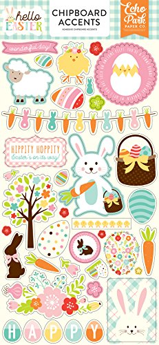 Echo Park Paper Company Hello Easter 6x13 Chipboard Accents