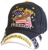 Thank A Veteran For Your Freedom Adjustable Hat