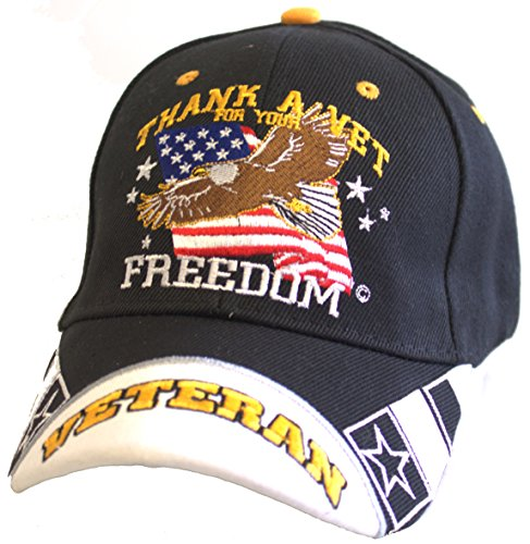Thank A Veteran For Your Freedom Adjustable Hat by KYS Design