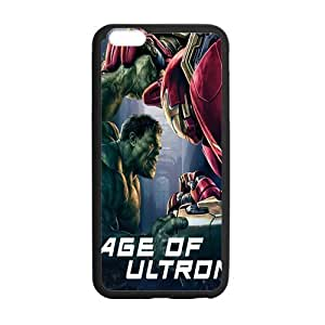 Age of Ultron, Rubber Phone Cover Case For iphone 6+ (5.5 inch), iphone 6 plus Cases, Black / White