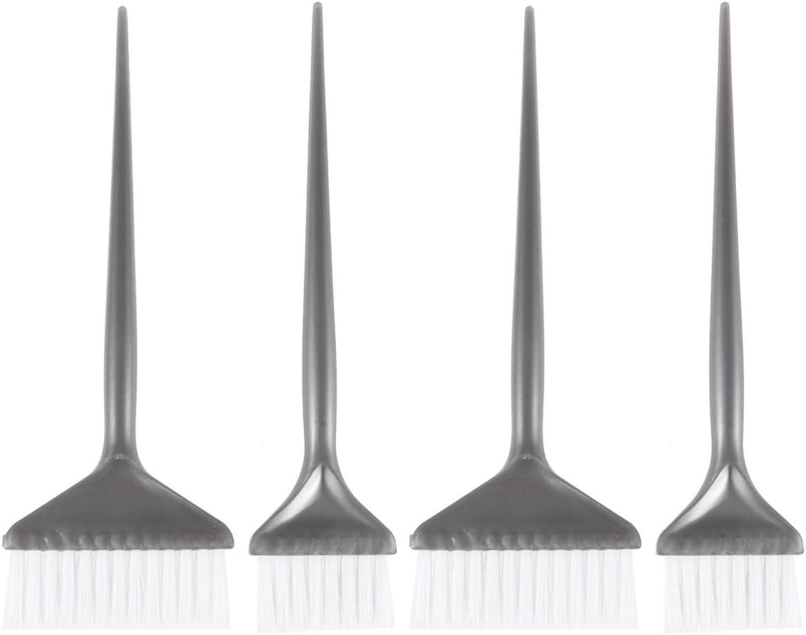 Lurrose 4 piezas Tinte Cepillo Cepillos Coloración De Pelo Pinceles Para Teñir El Pelo Blanqueado Para Tinte Maquillaje Peine Herramienta Para ...