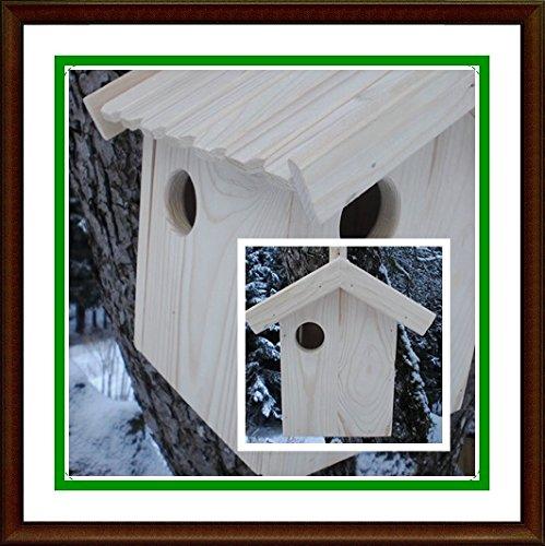 Eichhörnchen-Haus-Bausatz XXXL-(Ei Bausatz)-Eichhörnchenhaus-Bausatz-Nistkasten-Kobel-Holzschindeldach-Vogelhaus Handarbeit vom Schreiner