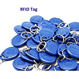 Wholesale New Contactless RFID Proximity ID Card Token Tags Key Keyfobs 125Khz Keychians (pack of 50)