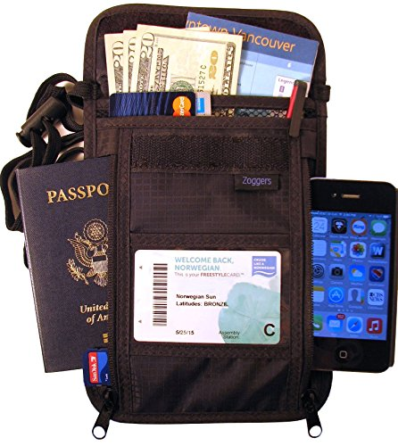 RFID Travel Wallet - Largest Neck Pouch - Fits Any Size Cell Phone- Cruise - Keep Valuables Safe by Zoggers (Image #7)