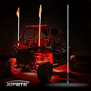 Amazon Com Xprite 5ft Led Flag Pole Safety Antenna Whip