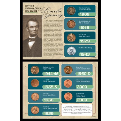 American Coin Treasures Historic Chronological Highlights of The Lincoln Penny ()