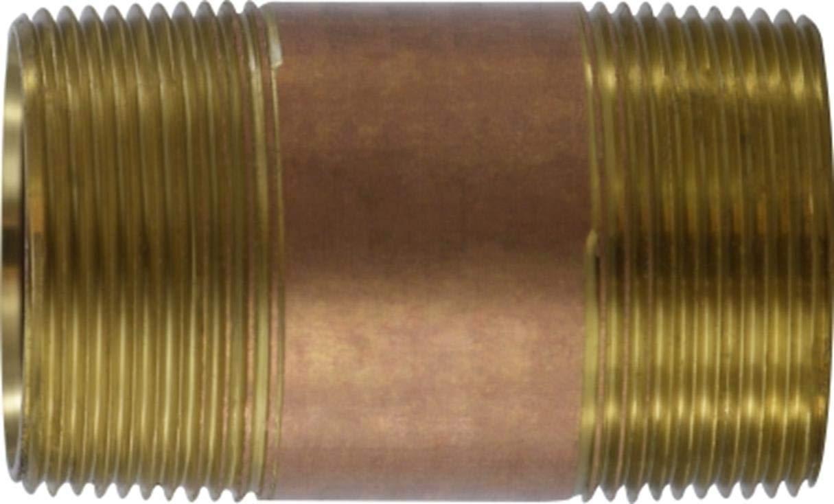 8 Length 1-1//2 Diameter 8 Length 1-1//2 Diameter Midland Metal Midland 40-151 Brass Nippple