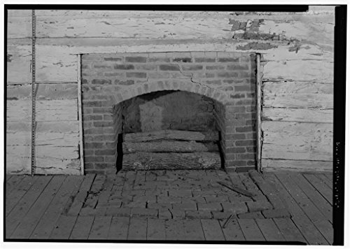 Vintography 8 x 12 Photo 20. Detail View Fireplace, Looking North to South Scale - The Hermitage, West Cabin, 4580 Rachel's Lane, Hermitage, Davidson County, TN 1880 80a by Vintography
