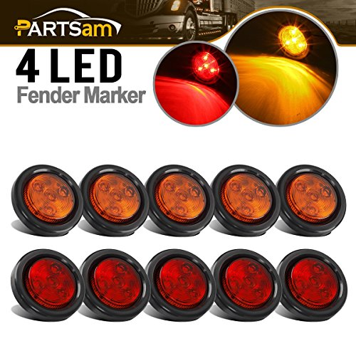 Partsam 10Pack(5 Amber + 5 Red) 2