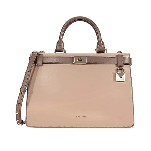 fcc0fa4348a4 Amazon.com: Michael Kors Tatiana Medium Leather Satchel- Turffle/Mushroom:  Shoes