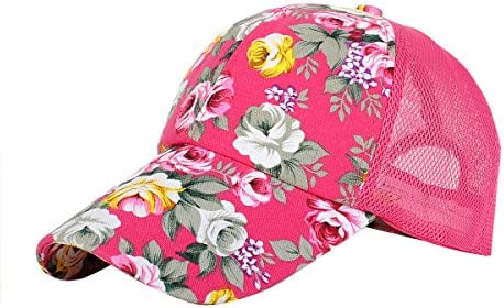 Eforstore Snapback Baseball Cap Floral Perforated Ball Caps Golf Hats  Summer Mesh Hat for Women Teens 0cac9ae1a5d8