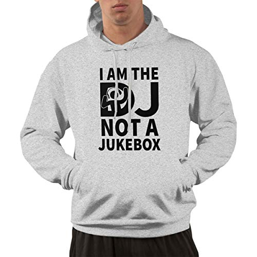 Blewinss Men's Leisure Baseball Pocket Sweater Print I'm The Dj Not The Jukebox S Gray