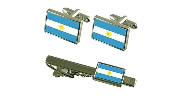 Select Gifts Clip de Corbata Gemelos Bandera Argentina Matching ...