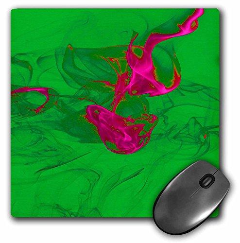 Yves Creations Smoke Effects - Hot Pink Smokey Green Silhouette - MousePad (mp_15500_1)