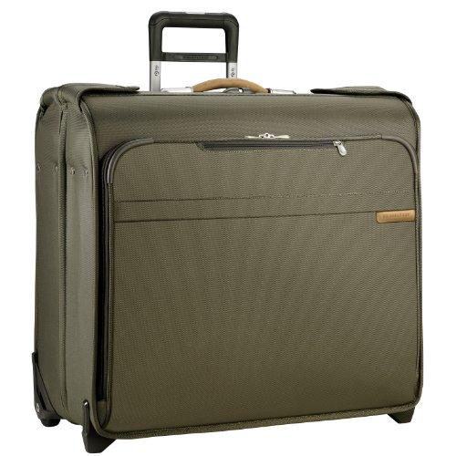 [Briggs & Riley Baseline Wheeled Wardrobe Bag, Olive, Small] (Briggs & Riley Mesh Garment Bag)
