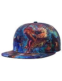Aivtalk Fashion 3D Wave Pattern Baseball Caps Unisex Hip Hop Flat Hat