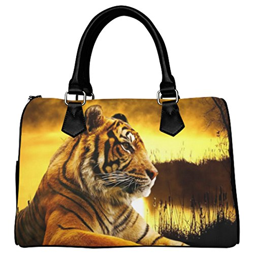 Jasonea Women Boston Handbag Top Handle Handbag Satchel Amazing Fractal Basad195318