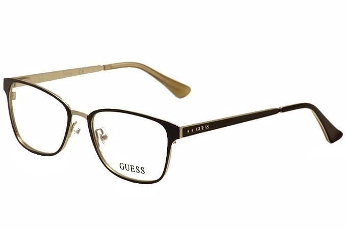 549814f3d39 Image Unavailable. Image not available for. Colour  Guess Women s  Eyeglasses GU2550 GU 2550 049 Black Full Rim Optical ...