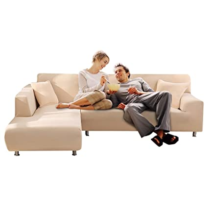 Amazon.com: TuTu Home L Shape Stretch Elastic Fabric Sofa ...