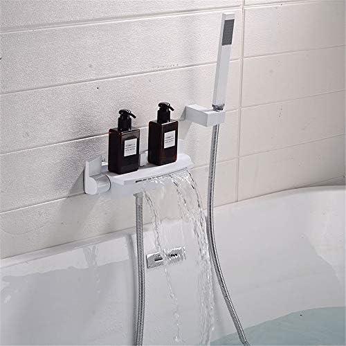 浴槽の蛇口 ハンドヘルド頭とバスタブとシャワーシステムバスルームの独立型の蛇口 キッチンバーのトイレで使用できます (Color : White a, Size : Free size)