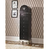 Aico Hollywood Swank Swivel Lingerie Chest in Black Iguana by Michael Amini