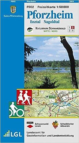 Pforzheim Karte.Pforzheim Enztal Nagoldtal Karte Des Schwäbischen Albvereins Und
