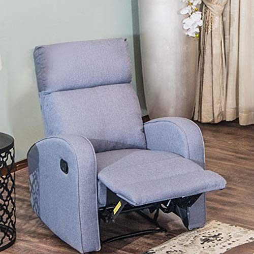 (Recliner Sofa Grey Fabric Reclining Chair Living Room Couch - Single Seater Sofa)