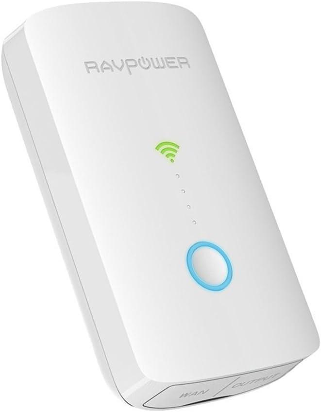 RAVPower FileHub Plus inalámbrico, enrutador de viaje, lector de tarjeta SD USB portátil disco duro compañero, DLNA nas compartir media Streamer 6700 mAh batería externa unidades), color blanco: Amazon.es: Electrónica
