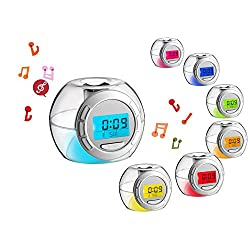 Digital LED Alarm Clock Snooze Light Control Backlight Time Calendar Thermometer