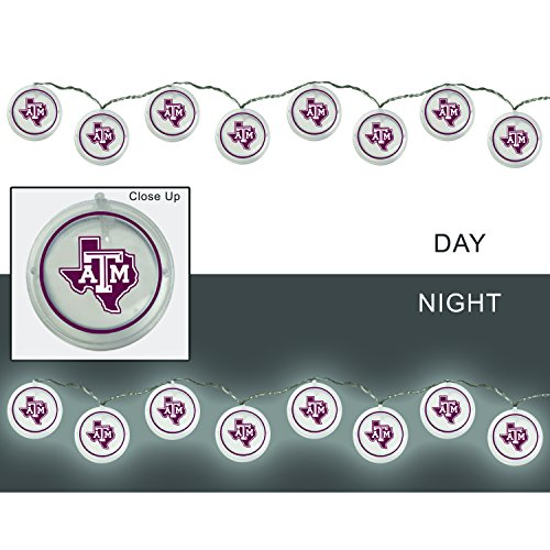 Team Sports America Texas A&M Outdoor Safe Battery Powered String Light Set