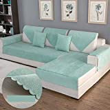 DW&HX Waterproof Anti-Slip Sofa Cover, Pets Dog Sectional Couch Water Resistant Stain Resistant Multi-Size Sofa Covers Slipcover Furniture Protector -Sold by Piece-Green 28x47inch(70x120cm)