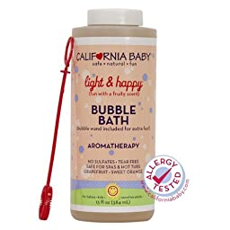 California Baby Light and Happy Aromatherapy Bubble Bath 13 fl oz.