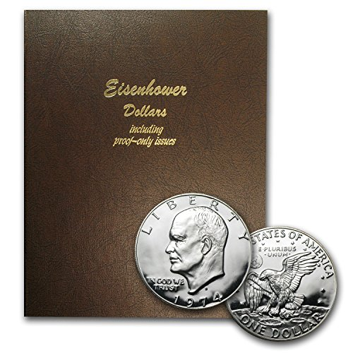 1971-1978 32-Coin Eisenhower Dollar Set BU/Proof (Dansco Album) Brilliant (1972 Eisenhower Dollar Coin)