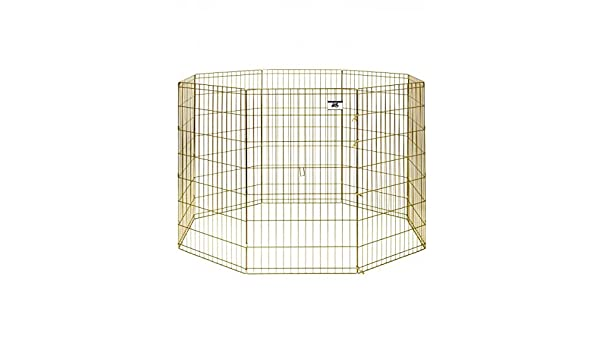 d82e0545de2e Miller Mfg Pet Lodge Exercise Pen Gold 8 Panel (42