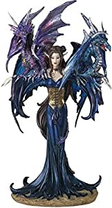 George S. Chen Imports SS-G-91276 Fairy Collection Pixie with Dragon Fantasy Figurine Figure Decoration